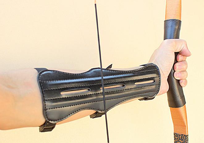 牛皮护臂 箭护具 器材用品 反曲美直拉双层PU护具