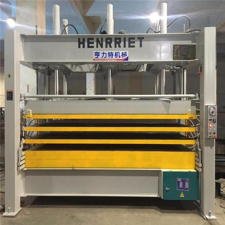 亨力特专业生产热压机  铝蜂窝板集成吊顶压机  液压式聚氨脂层压机 木工机械热压机