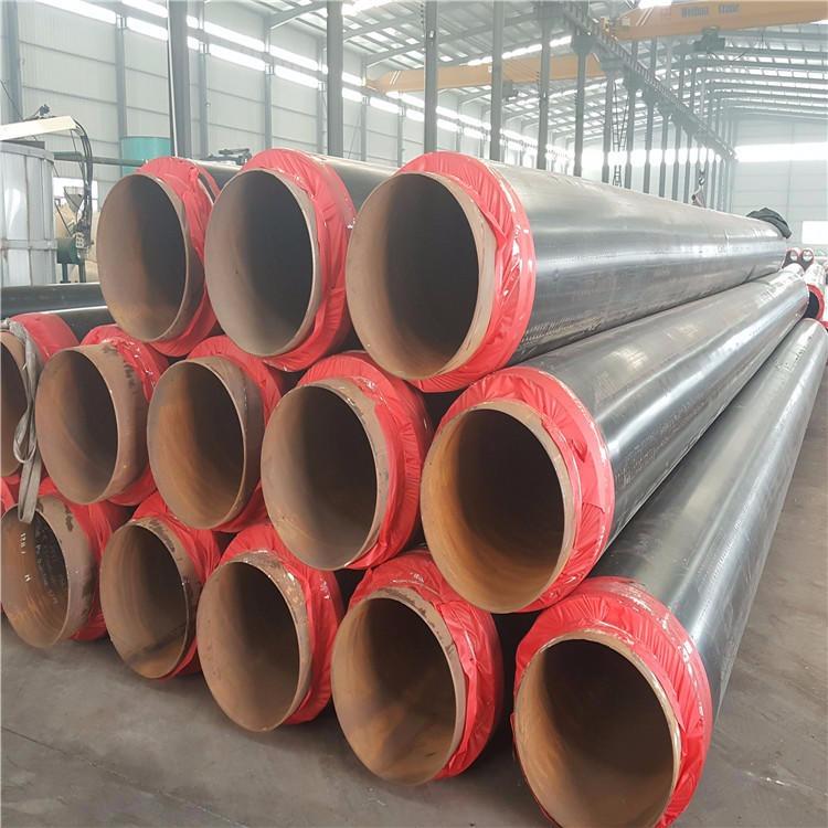 聚氨酯保温管 供暖用聚氨酯保温管 黑夹克聚氨酯保温管 预制直埋保温管
