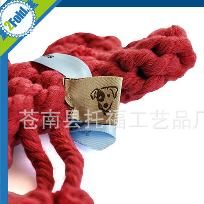 宠物玩具外贸新品热销批发手工编织棉绳狗狗玩具创意磨牙龙虾