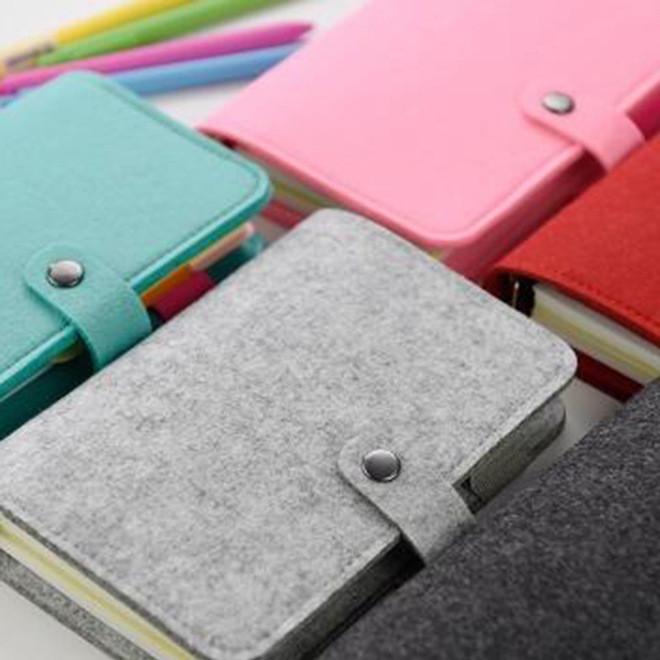 专业订制羊毛毡笔记本时尚记事薄便签本A5A6活页手帐本可印logo