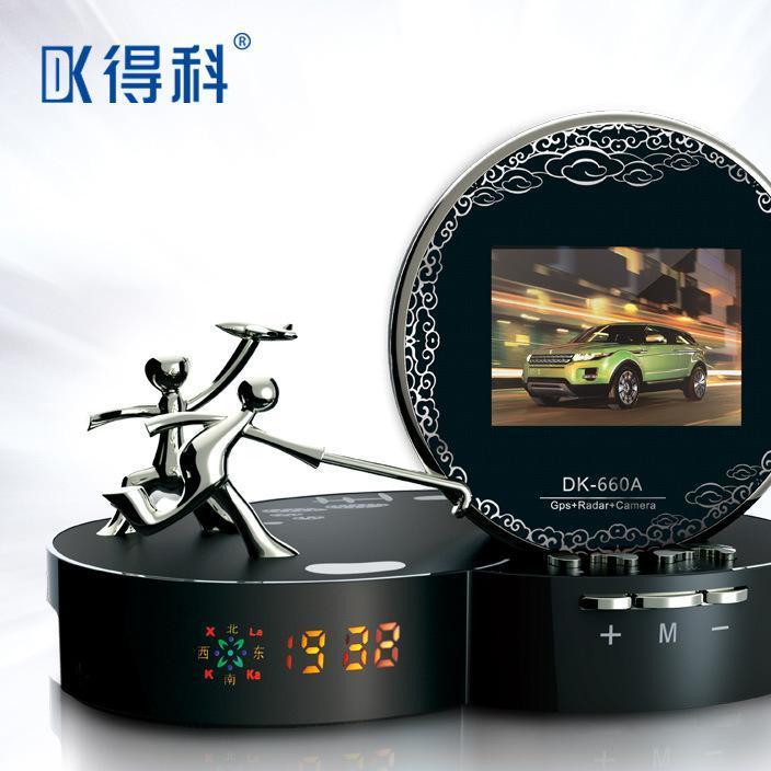得科660A中控台高清行车记录仪 夜视行车记录仪三合一体机
