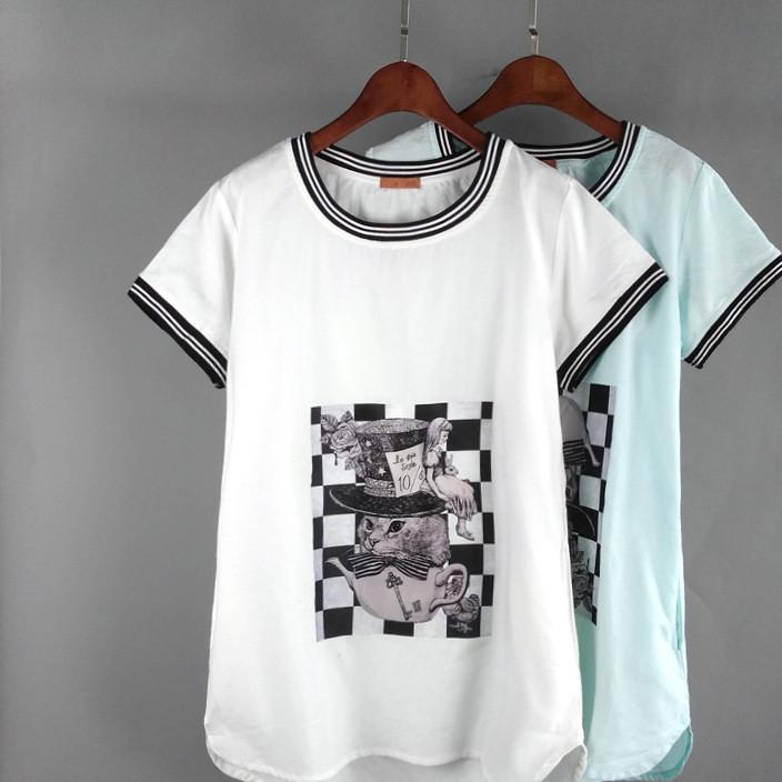 外贸尾货 夏季新款女式短袖t恤 19.9元货源 品牌折扣女装走份批发