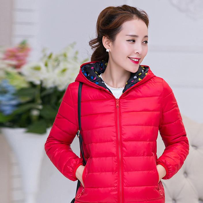 冬2019新款小棉袄女士外套修身连帽两面穿加大版棉服厂家批发代理